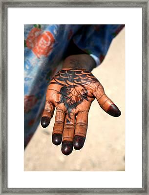 Henna Hand Framed Print