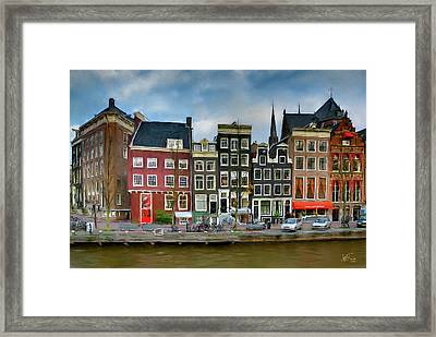 Framed Print featuring the photograph Herengracht 411. Amsterdam by Juan Carlos Ferro Duque