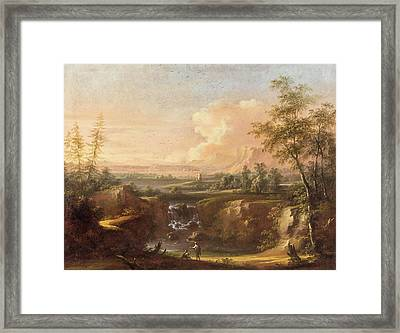 Heroic Landscape With People Staffage Framed Print