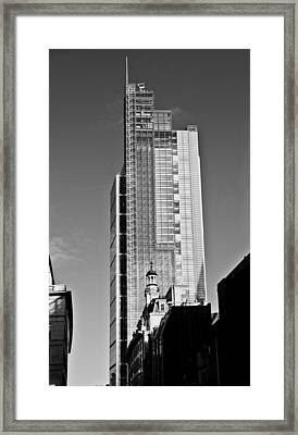 Heron Tower London Black And White Framed Print by Gary Eason