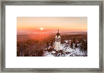 Heublein Tower In Simsbury, Connecticut Framed Print