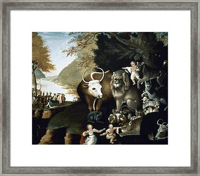 Hicks: Peaceable Kingdom Framed Print by Granger