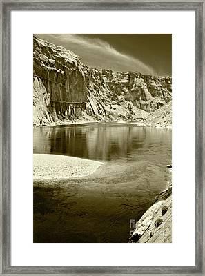 Framed Print featuring the photograph Hidden Cove by Pete Hellmann