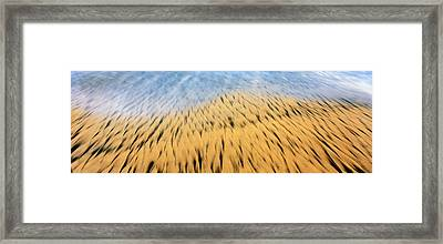 High Angle View Of Waves Create Framed Print