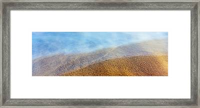 High Angle View Of Waves On The Beach Framed Print