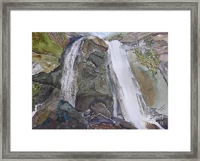 Framed Print featuring the painting High Shoals Falls by Joel Deutsch