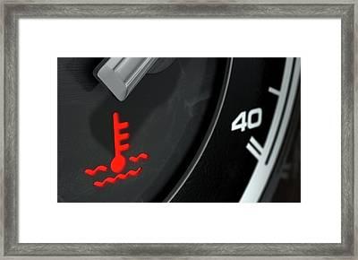 High Temperature Dashboard Light Framed Print by Allan Swart