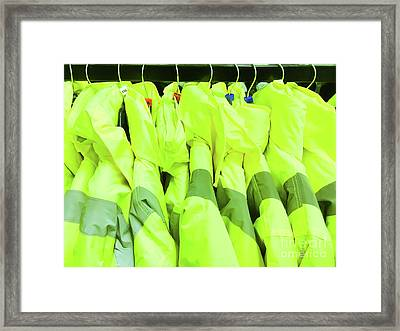 High Visibility Jackets Framed Print by Tom Gowanlock