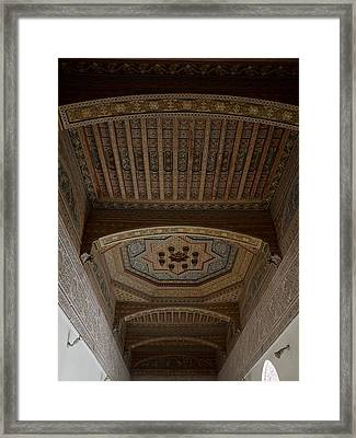 Highly Decorated Roof Of Palais Bahia Framed Print