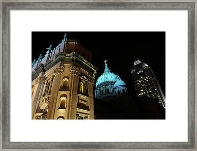 Highrise With Green Dome And Facade Of Mary Queen Of The World B Framed Print by Reimar Gaertner
