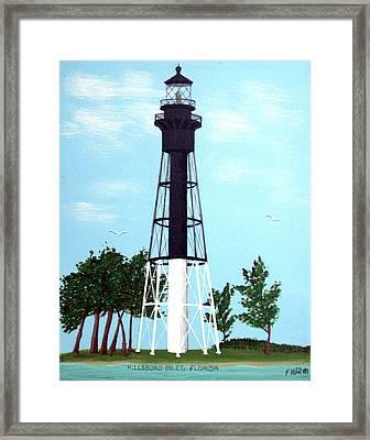 Hillsboro Inlet Lighthouse Framed Print by Frederic Kohli