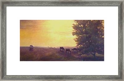Hillside Silhouettes Framed Print by Ruth Stromswold