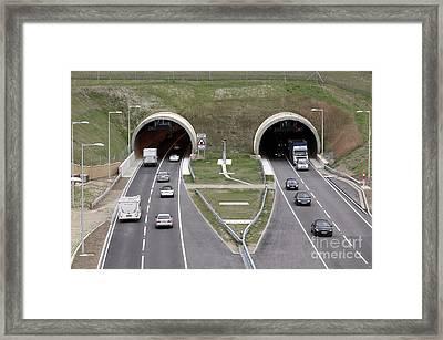 Hindhead Tunnel Framed Print by Martin Bond