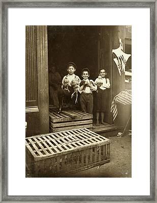 Hine: Child Labor, 1908 Framed Print