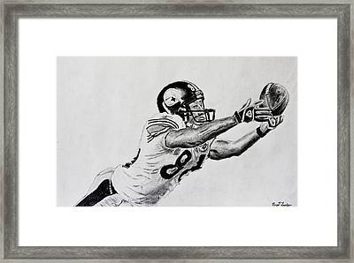 Hines Ward Diving Catch  Framed Print by Bryant Luchs