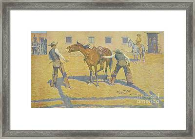 His First Lesson Framed Print