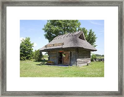 Historic Barn On Muhu Island Framed Print