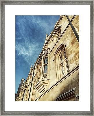Historic Building Detail Framed Print by Tom Gowanlock