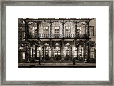 Framed Print featuring the photograph Historic Dock Street Theatre by Carl Amoth