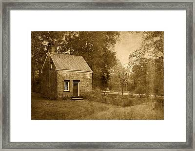 Historic Home - Allaire State Park Framed Print by Angie Tirado