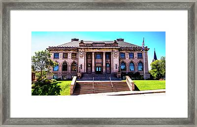 Framed Print featuring the photograph Historic Public Library by Onyonet  Photo Studios
