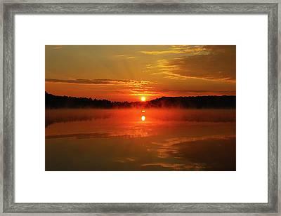 Hocking Hills Morning Glory Framed Print by David Yunker