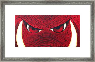 Hog Eyes 2 Framed Print by Amy Parker