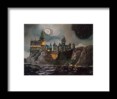 Hogwarts Framed Prints