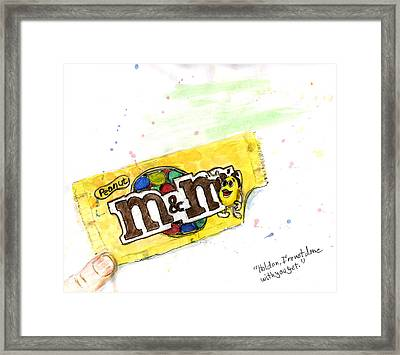 Hold On I Am Not Done With You Yet Framed Print by Kevin Callahan