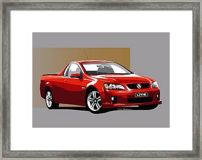 Holden Ute Framed Print by MOTORVATE STUDIO Colin Tresadern