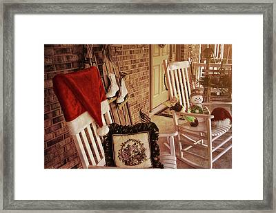 Holiday Porch Decorated Framed Print by JAMART Photography
