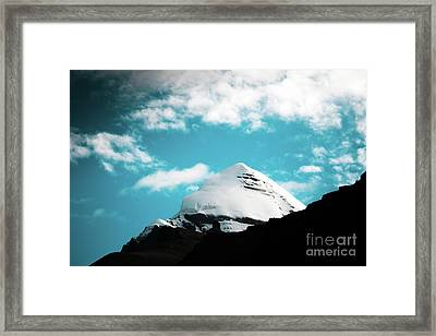 Holy Kailas Himalayas Mountain Tibet Yantra.lv Framed Print