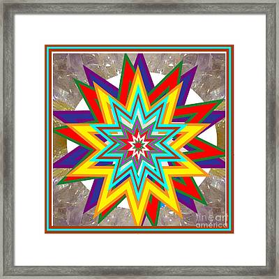 Holy Star White Purple Blue On Crystal Stone Marble Unique Shades Tones Textures Buy Wall Decoration Framed Print by Navin Joshi