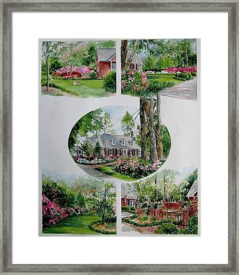 Framed Print featuring the painting Home Collage by Gloria Turner