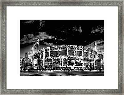 Home Of The Cleveland Indians Framed Print by Doug Bardwell