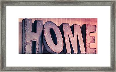 Home.......other Colour Setups Are Possible Framed Print