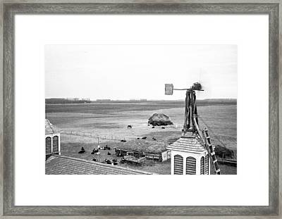 Homemade Wind Powered Electricity Generator 1920's Framed Print