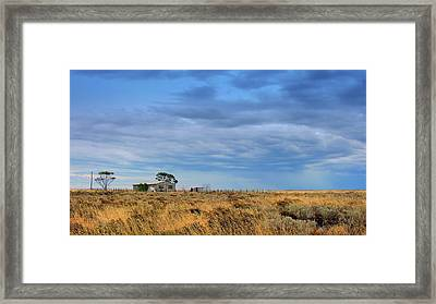 Framed Print featuring the photograph Homestead by Tim Nichols