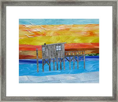 Honeymoon Sunset Framed Print by Charles McDonell