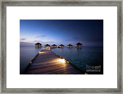 Framed Print featuring the photograph Honeymooners Paradise by Hannes Cmarits