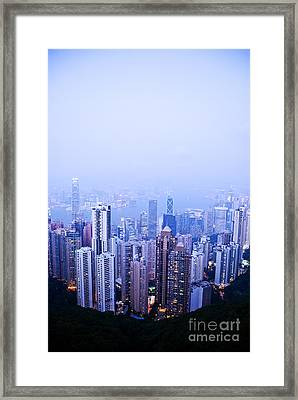 Hong Kong Skyline Framed Print by Ray Laskowitz - Printscapes