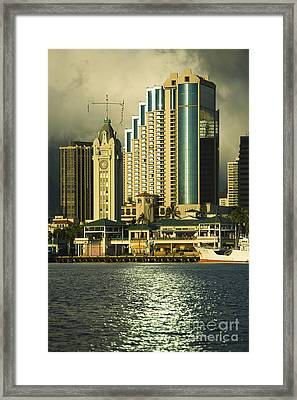 Honolulu Harbor Framed Print by Dana Edmunds - Printscapes