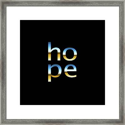 Hope Framed Print by Bill Owen