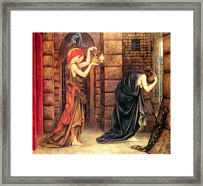 Hope In The Prison Of Despair Framed Print by Evelyn de Morgan