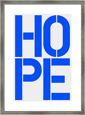Hope Framed Print by Three Dots