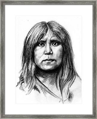 Hopi Girl Framed Print by Toon De Zwart