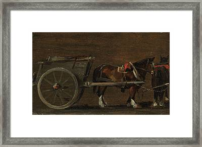 Horse And Cart Framed Print by John Constable