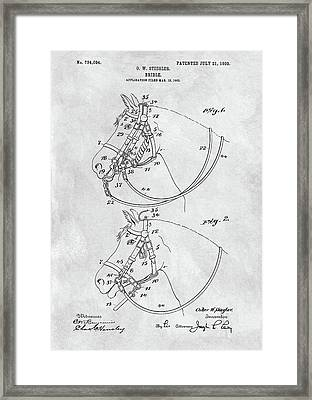 Horse Bridle Patent Framed Print