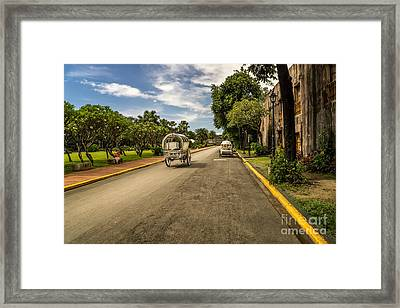 Calesa Horse Drawn  Framed Print by Adrian Evans