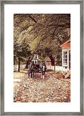 Horse Drawn Wagon Framed Print